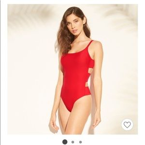 Red bathing suit